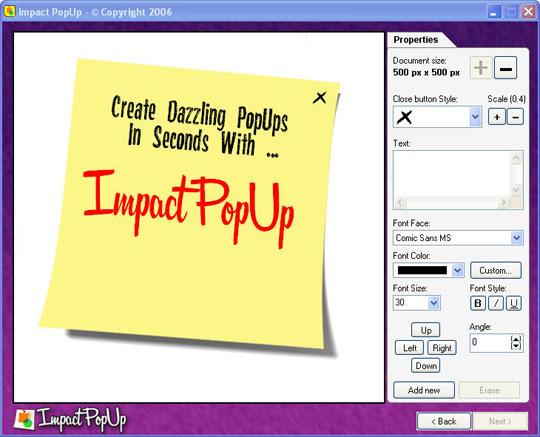 Impact PopUp Screenshot 2