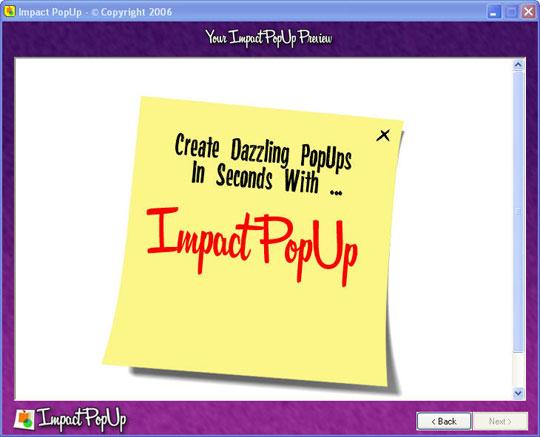 Impact PopUp Screenshot 4