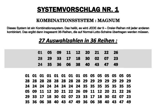 Lotto System Knacken